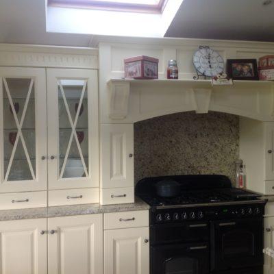 Pine Kitchen Repainted in Cream