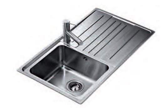Stainless Inset Single Bowl with Drainer