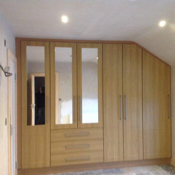 Light oak wardrobe