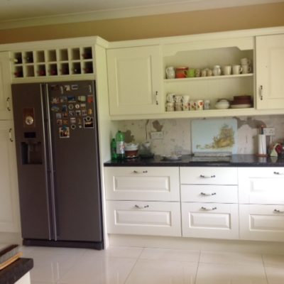 Solid Cream Painted Raised Panel Kitchen